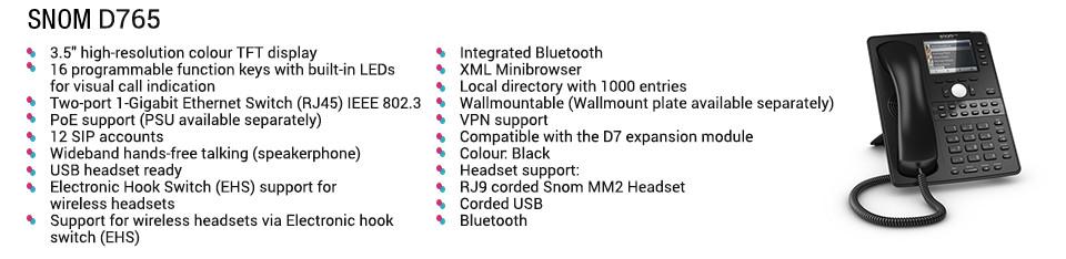 voip phone system snom d765