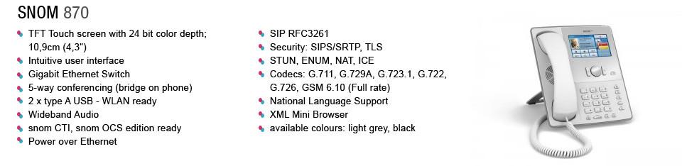 voip service provider snom870