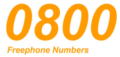 0800 freephone numbers